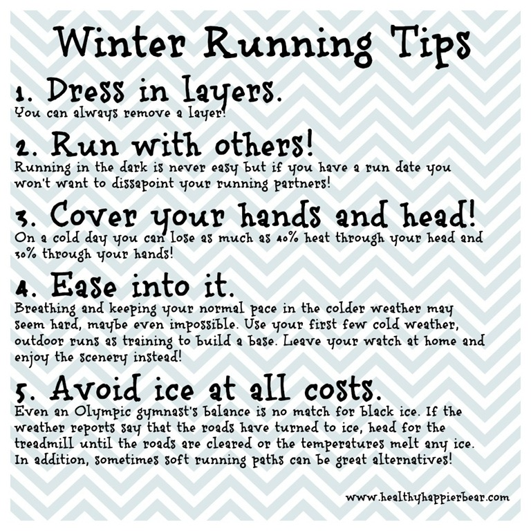 Winter Running Tips  A Healthy Happier Bear