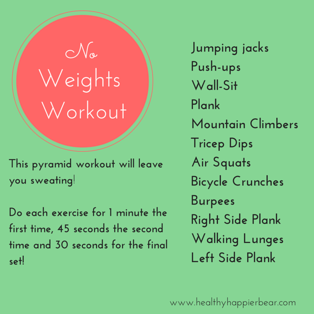 No Weights workout