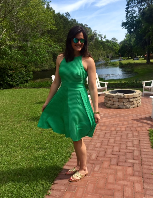 Stitch Fix Green Dress